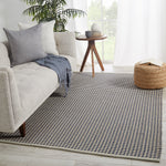 "Houndz Indoor/Outdoor Trellis Dark Blue/Cream Area Rug (2' 0"" x 3' 0"")"