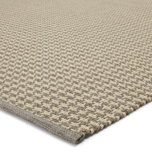 "Houndz Indoor/Outdoor Trellis Light Gray/Cream Area Rug (2' 0"" x 3' 0"")"