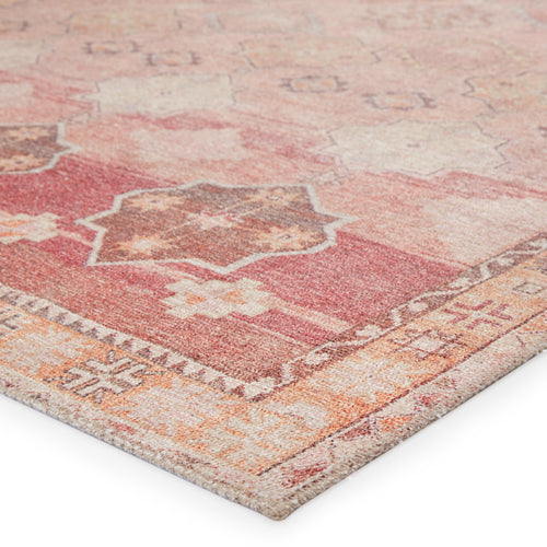 "Bijou Medallion Pink/Orange Runner Rug (2' 6"" x 7' 6"")"
