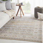 "Ilias Oriental Gray/Tan Area Rug (5' 0"" x 7' 6"")"