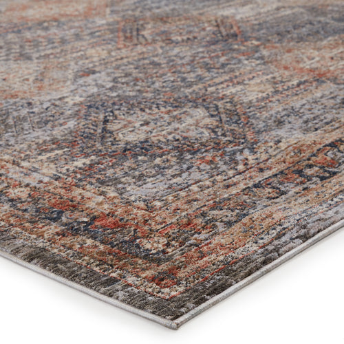 "Rhosyn Tribal Blue/Red Area Rug (5' 3"" x 7' 6"")"