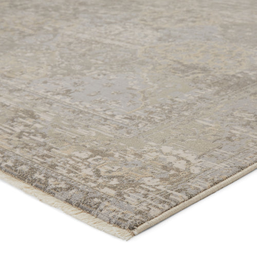 "Lourdes Trellis Gray/Cream Area Rug (5' 0"" x 7' 6"")"