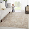 "Lourdes Trellis Gold/Light Gray Area Rug (5' 0"" x 7' 6"")"