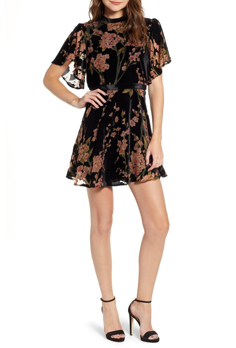 Victoria Burnout Mini Dress