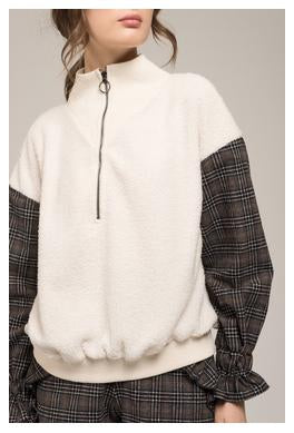 Fleece Zip Up Pullover