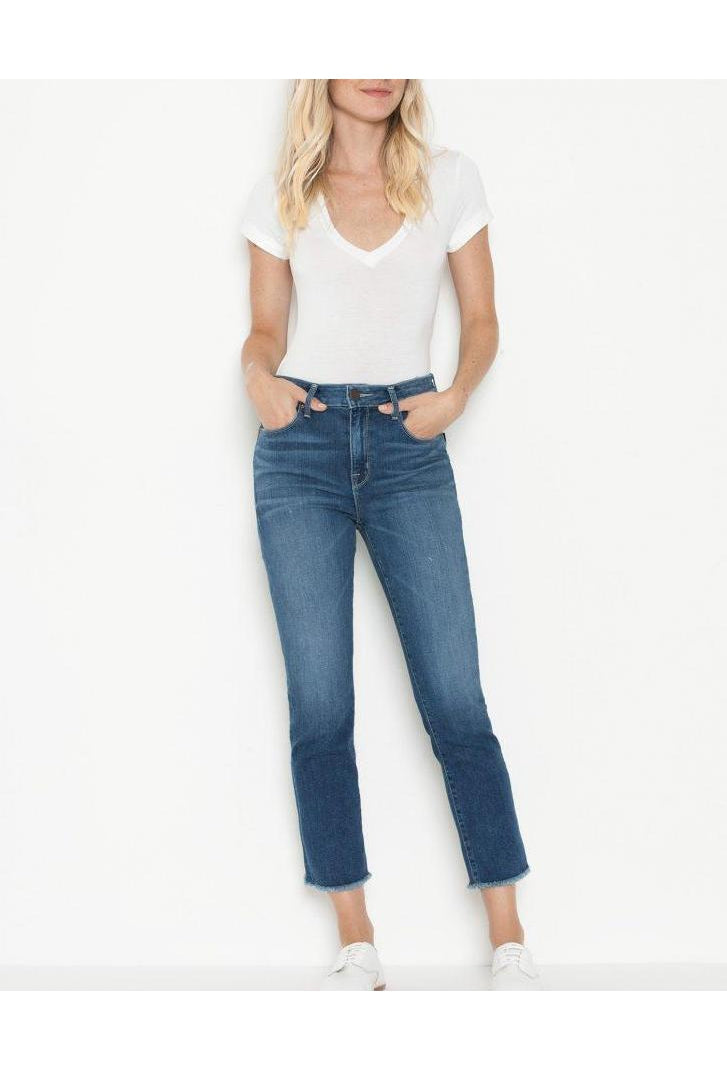 Destin Pin Up Crop Straight Jeans