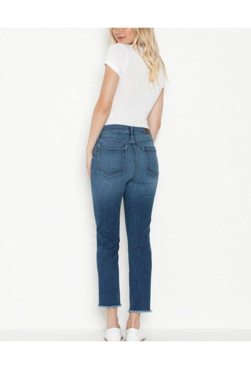 Parker Smith Destin Pin Up Crop Straight Jeans