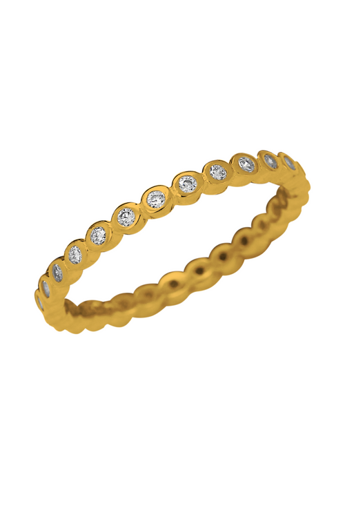 Little Sparkles  Stackable Gold Diamonds Ring