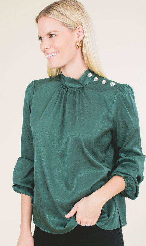 Kora Mock Neck Blouse