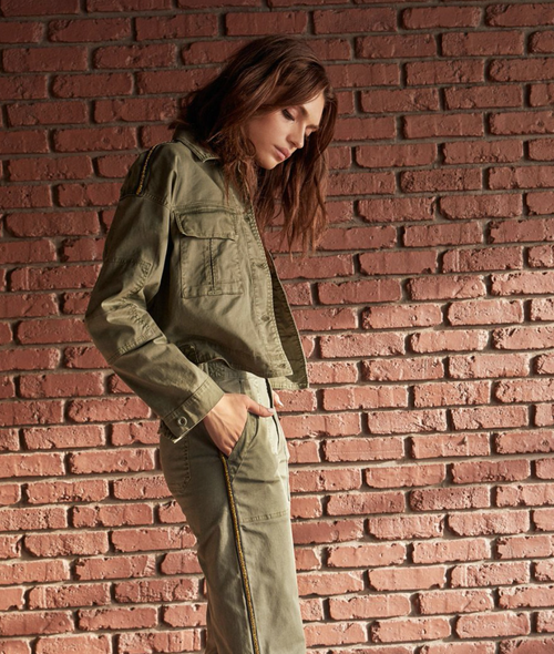 Cove Jacket Cropped Military