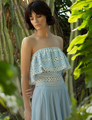 Jamaica Chambray Eyelet Top