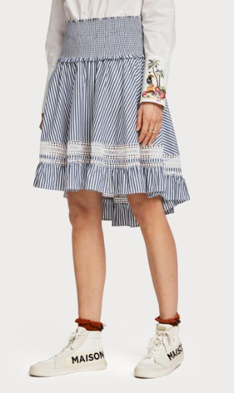 Blue striped ladder skirt