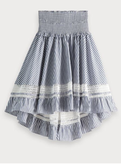 (New) Blue striped ladder skirt