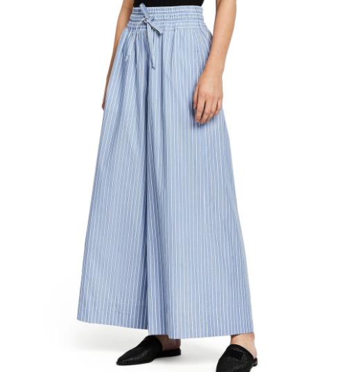 Blue/White Striped Wide leg pant