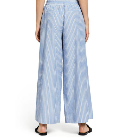 (New) Blue/White Striped Wide leg pant