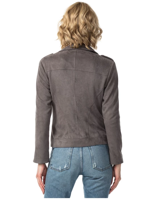 (New) Sierra Vegan Suede Moto Jacket