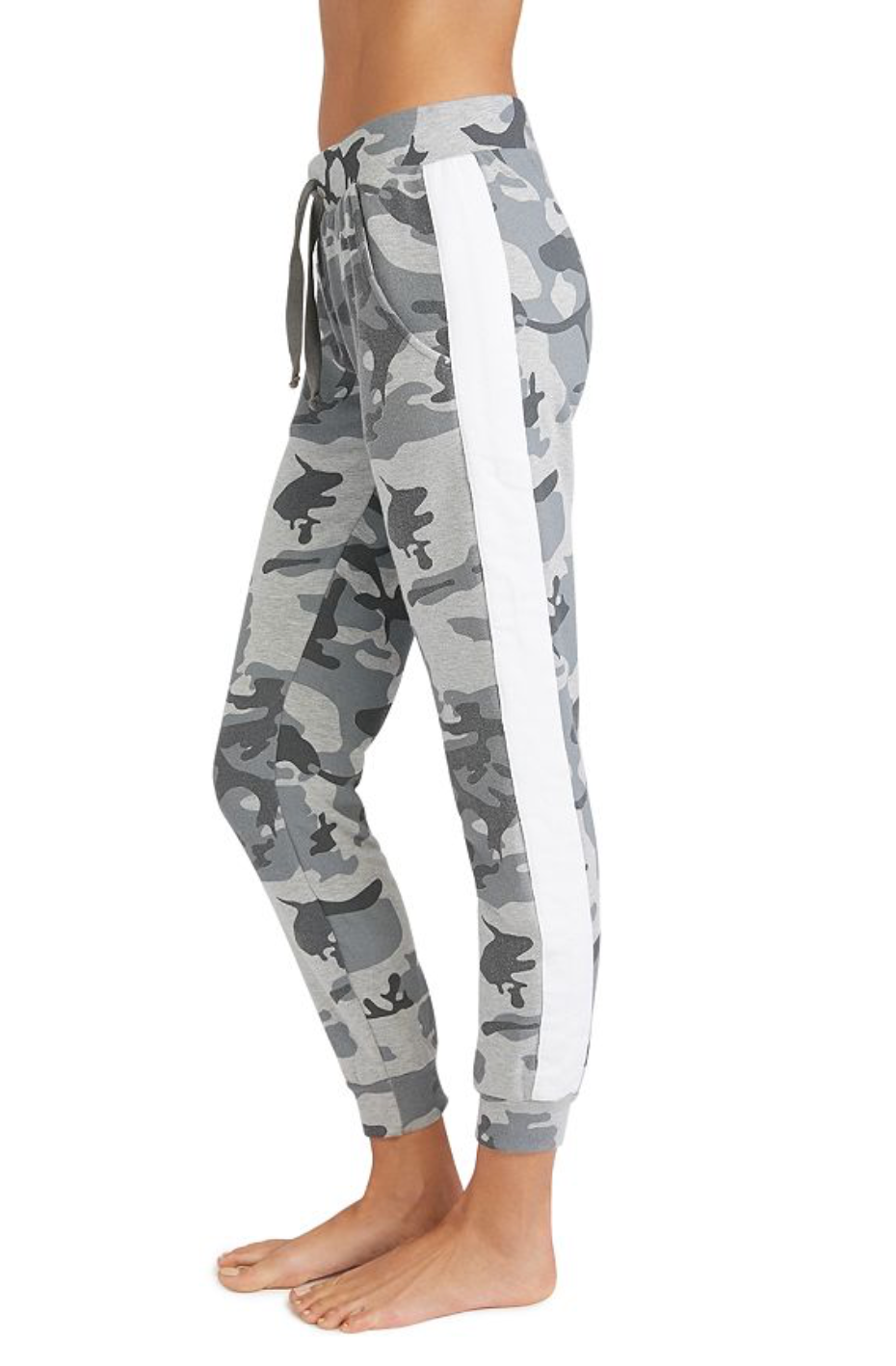 Camo Stripe Insert Flat Pocket Sweatpants