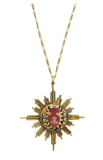 Glorious 17'' Necklace-bg-The Sacred Heart of Mary