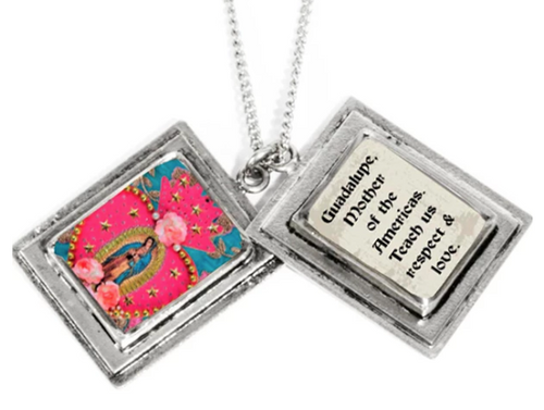 (New) True Prayer Charm Necklace-Guadalupe