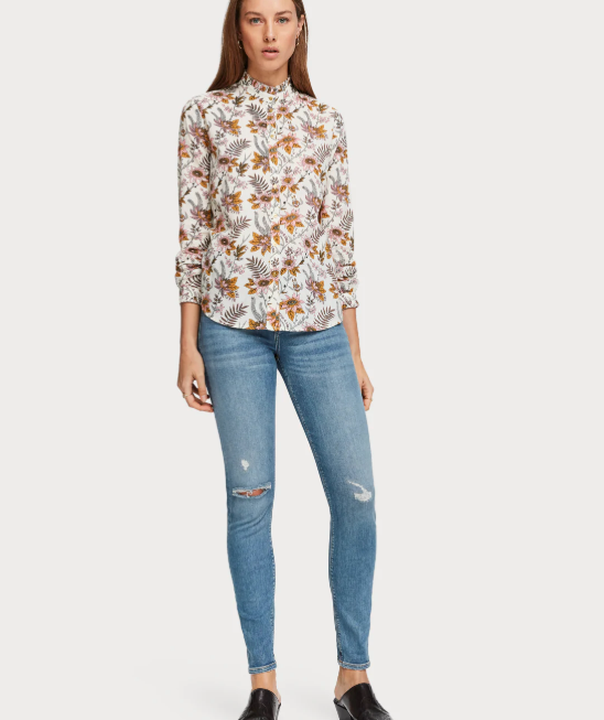 All-over Printed Blouse