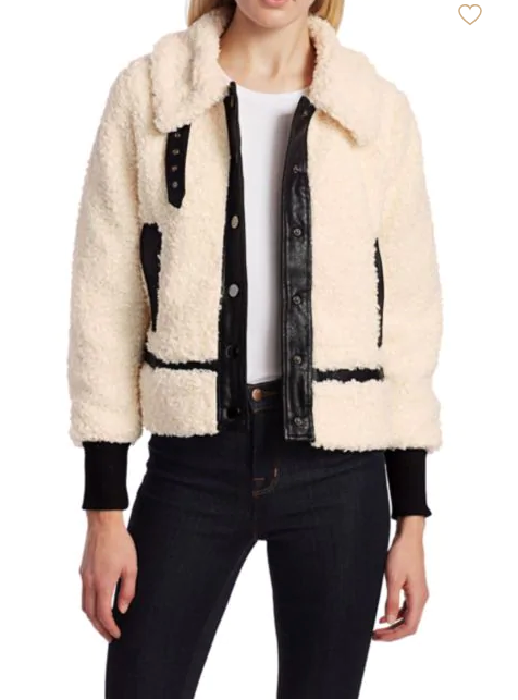 (New) Snap Front Shearling