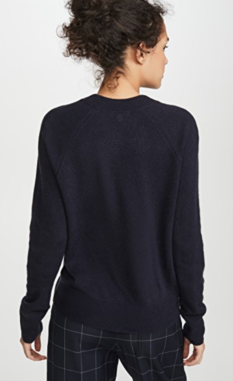 Cotton Cashmere Loose knit With V-Neck