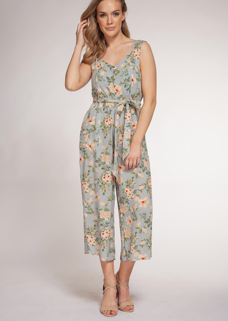 (New) Vintage Floral Jumpsuit