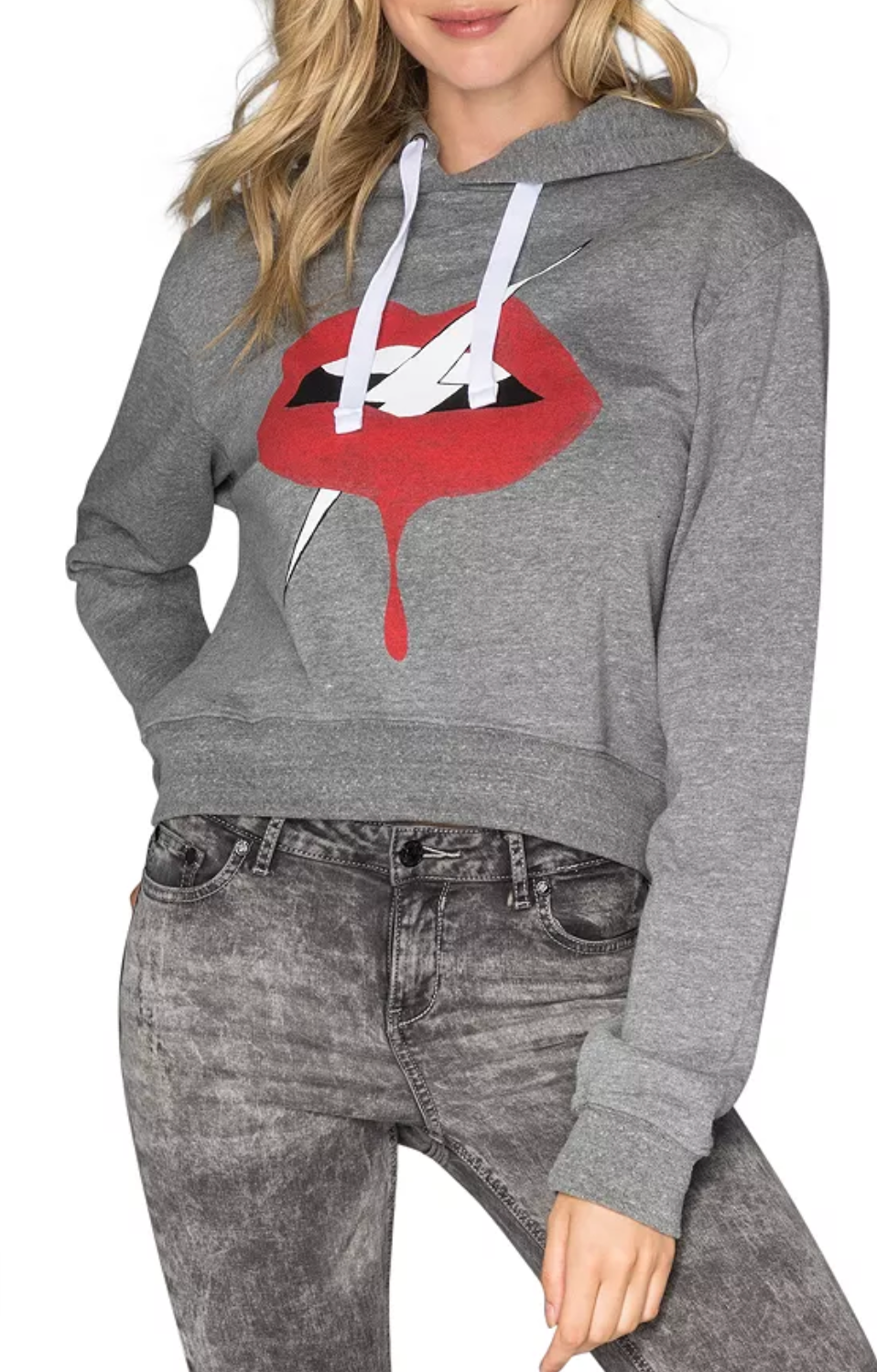 (New) Lips Crop Pullover