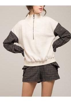 Moon River Fleece Zip Up Pullover