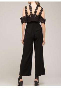 Moon River Cold Shoulder Jumpsuit