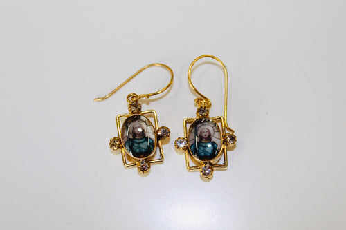 (New) Blessed Earrings-St Joan of Arc (GOLD)