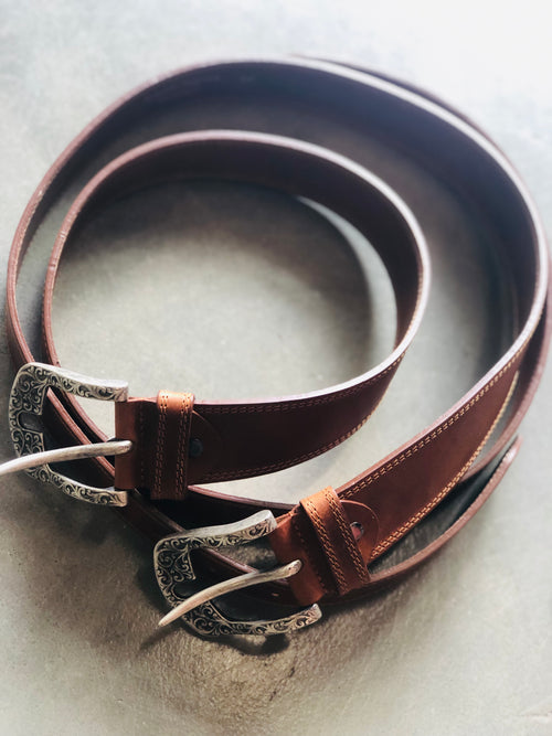 (New) Ansaldo Cognac Belt