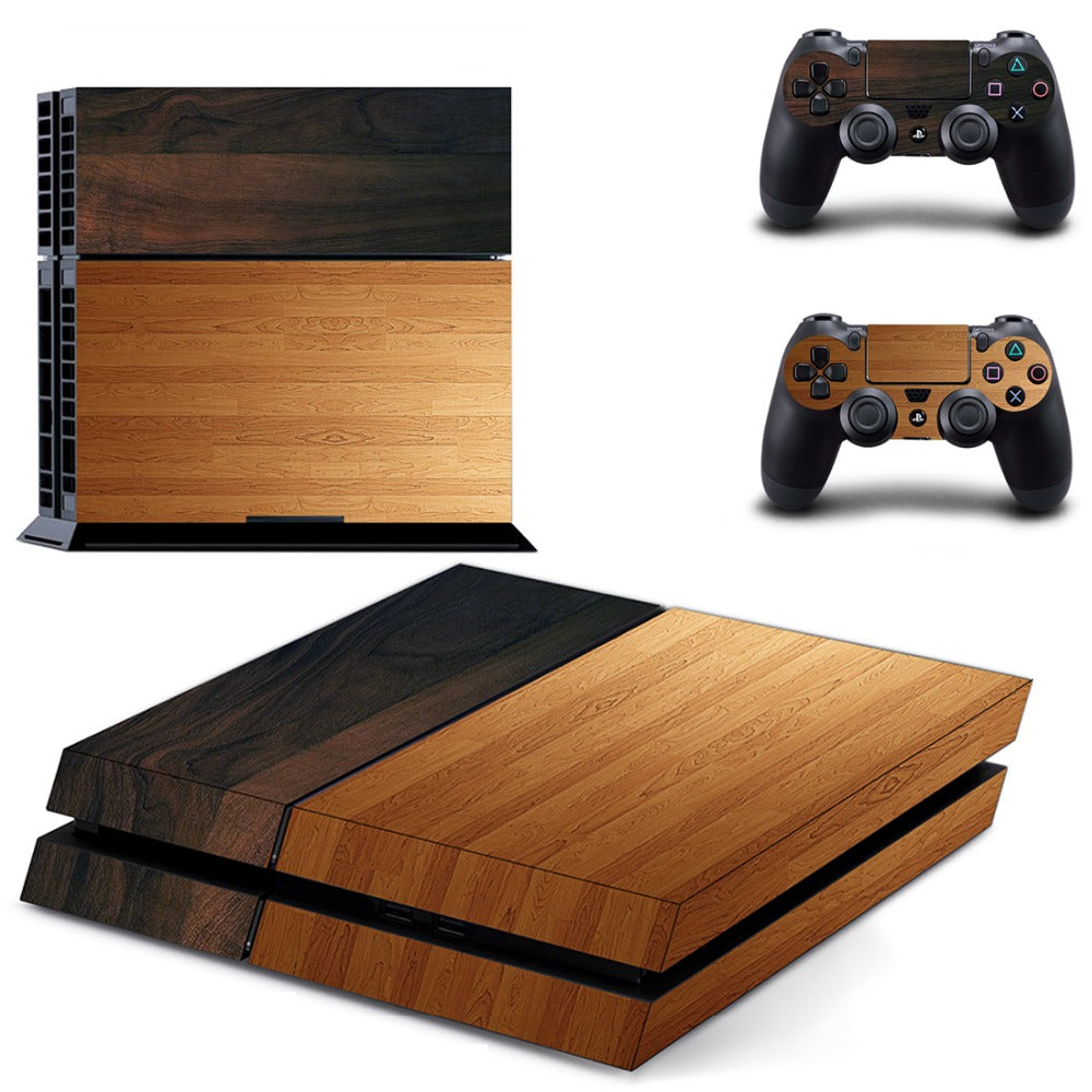 Wood Decal For PS4 Console & Controllers