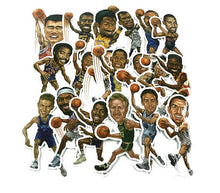 Load image into Gallery viewer, Big Head NBA Assortment Decals 20 Pack