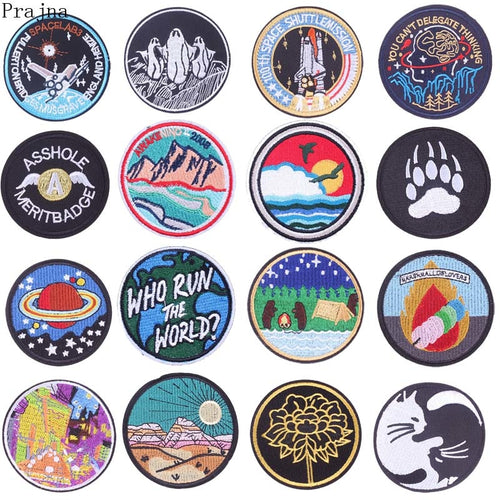 Round Iron On Patches