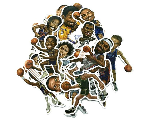 Big Head NBA Assortment Decals 20 Pack