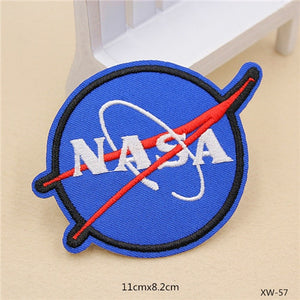 Off to Space NASA Sewing On Patches