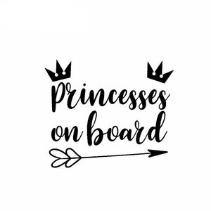 """Princesses On Board"" Car Decal"