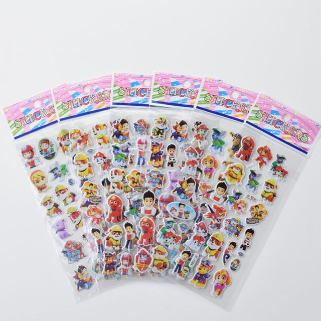 Six Pack Paw Patrol Decals