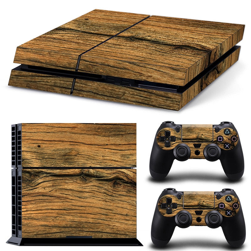 Wood Grain Decal For PS4 Console And Controllers