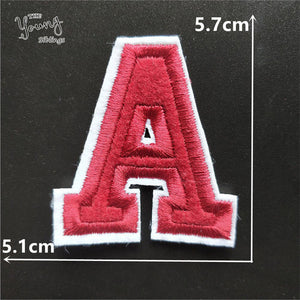 High quality Alphabet Iron On Patches