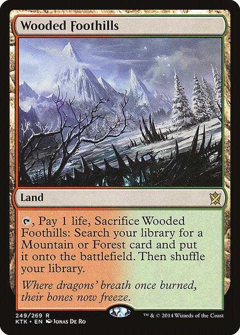 Wooded Foothills [Khans of Tarkir] | Chimera Gaming