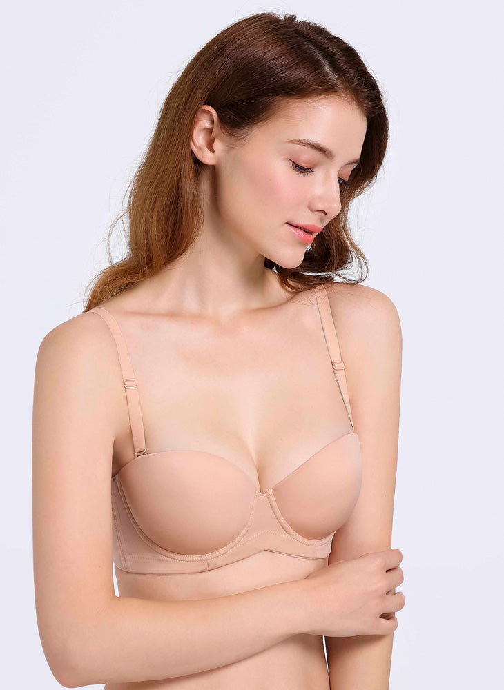 Silky Touch Strapless Padded Bra