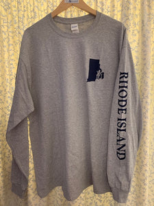Adult Rhode Island Crest Long Sleeve T-Shirt