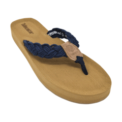 Tidewater Sandals Navy Nantucket Flip Flops