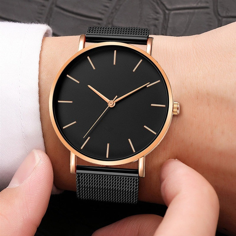2020 Men Watches Famous Luxury Brand Male Clock Steel Watch Men Business Classic Quartz Man Wrist Watch For Men's Wristwatch