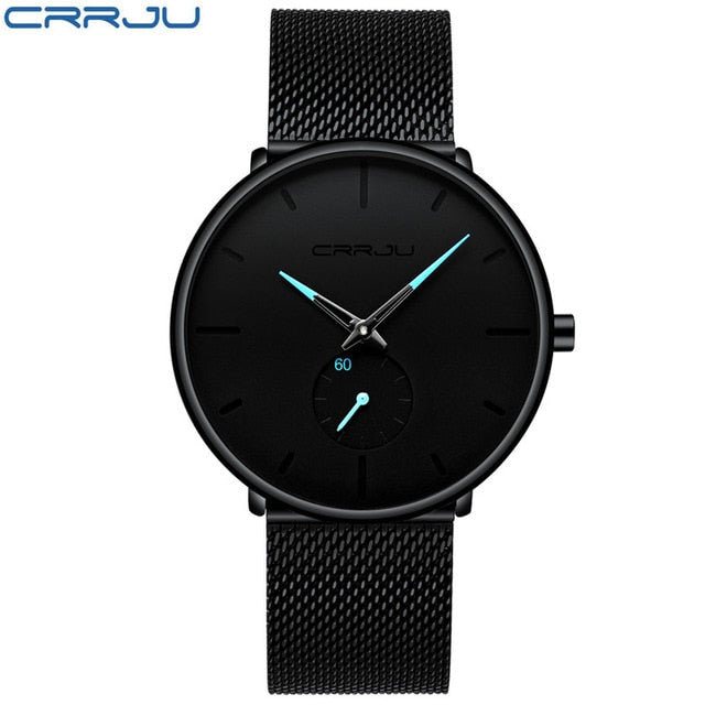 Men's Luxury Quartz Mesh Steel Waterproof Sport Watches