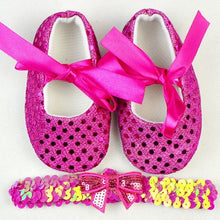 Load image into Gallery viewer, Baby's First Walkers Shoes with Headband 2 pcs