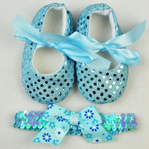 Baby's First Walkers Shoes with Headband 2 pcs