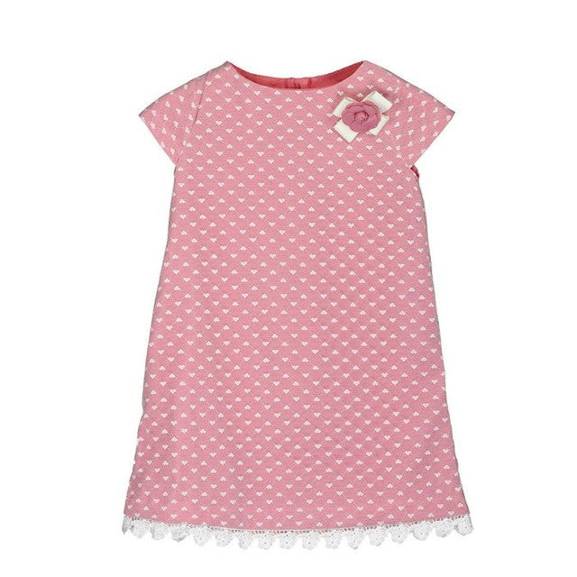 New 2017 European Style Baby Girls Dress Summer Sleeveless Flowers Floral Dresses with Lace Vestido Infantil Children's Clothing